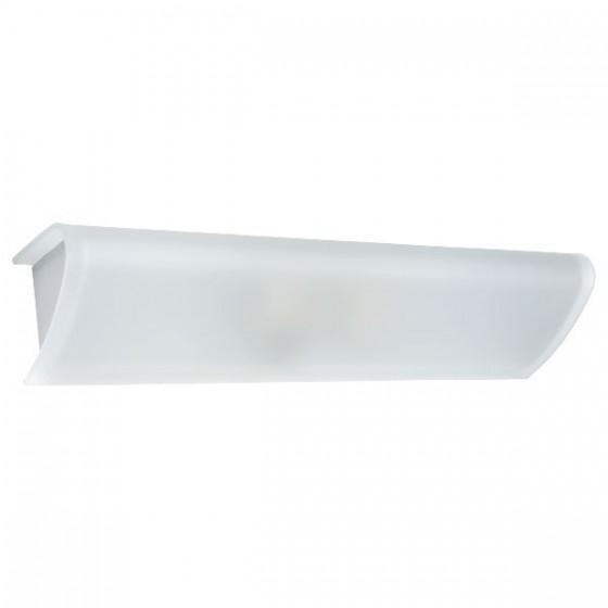 Γυάλινη λευκή απλίκα με ντουί Ε14