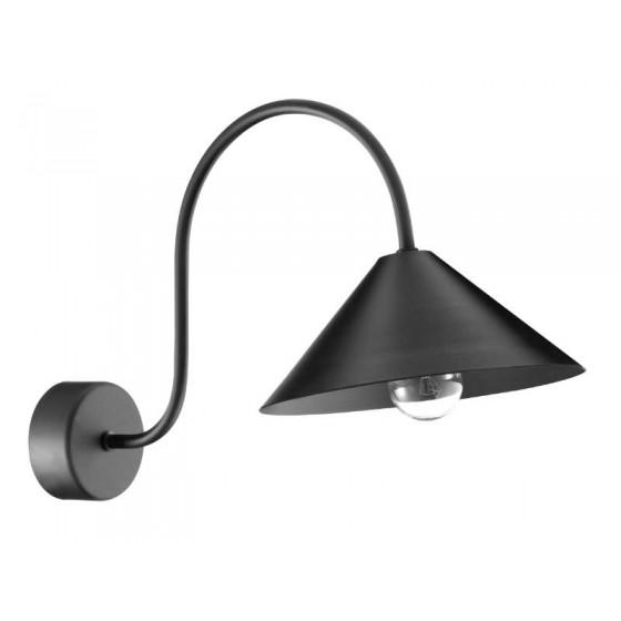 Μαύρη μεταλλική απλίκα Ø20cm