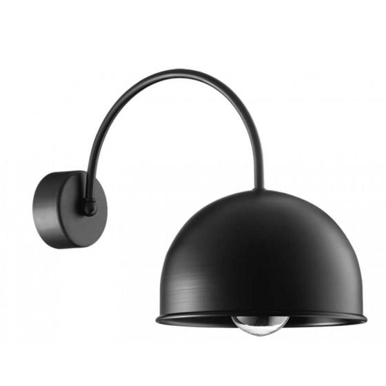 Μαύρη μεταλλική απλίκα Ø22cm