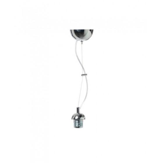 Ασημί ανάρτηση με PVC καλώδιο decor ACA