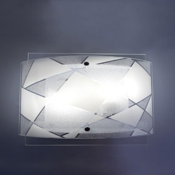 Φωτιστικό 26cm με διπλό γυαλί και μοτίβο ACA