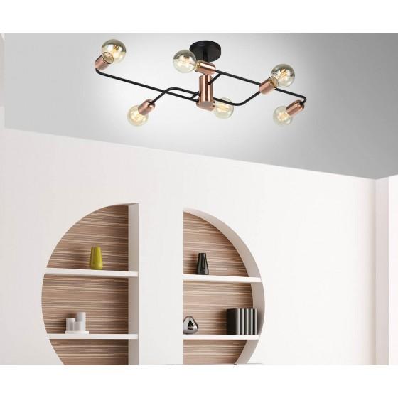Φωτιστικό οροφής εξάφωτο 81x43cm