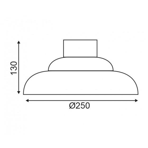 Γυάλινη καμπάνα Ø25cm ACA