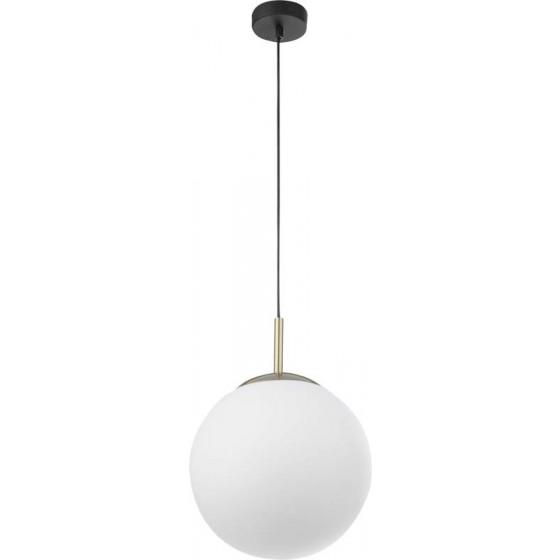 Κρεμαστή λευκή γυάλινη μπάλα Ø30cm