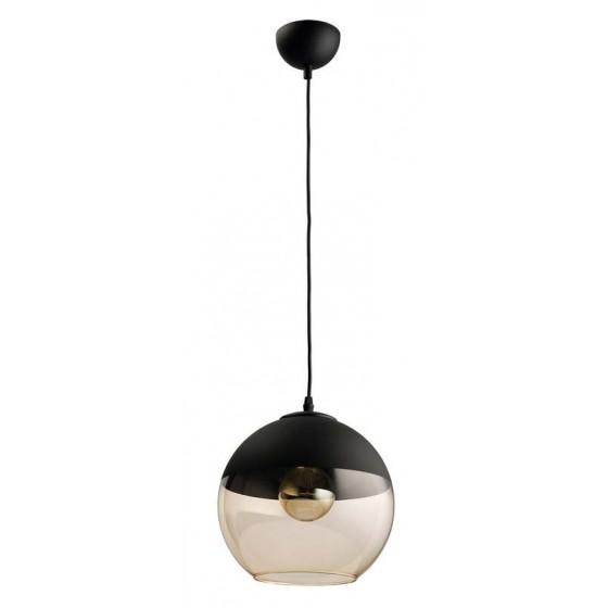 Κρεμαστή ημιδιάφανη μπάλα από γυαλί και μέταλλο