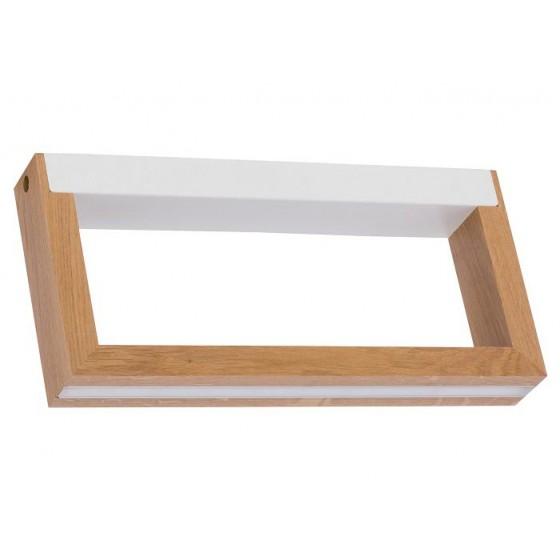 Ορθογώνια απλίκα LED από φυσικό ξύλο και μέταλλο