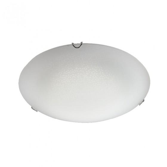 Φωτιστικό οροφής τρίφωτο Ø40cm γυάλινο με μοτίβο