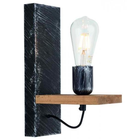 Απλίκα τοίχου 10x30cm από ξύλο και μέταλλο