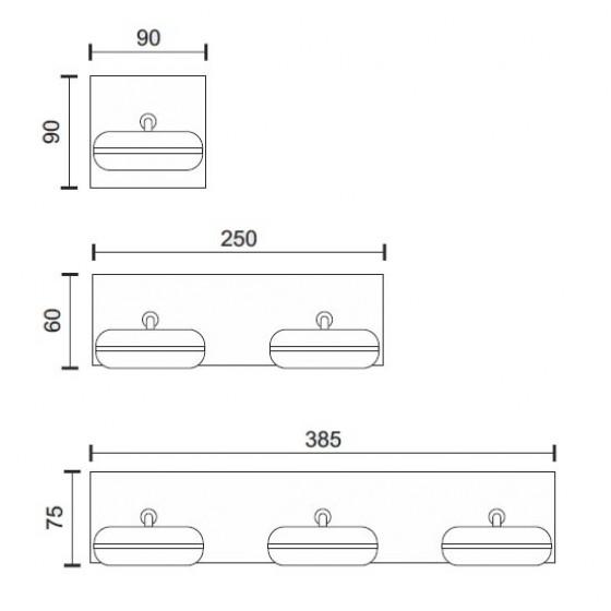 Στεγανή απλίκα LED με κινούμενη κεφαλή