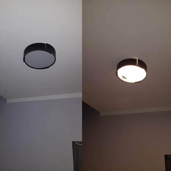 Μαύρη μοντέρνα πλαφονιέρα οροφής LED Ø60cm