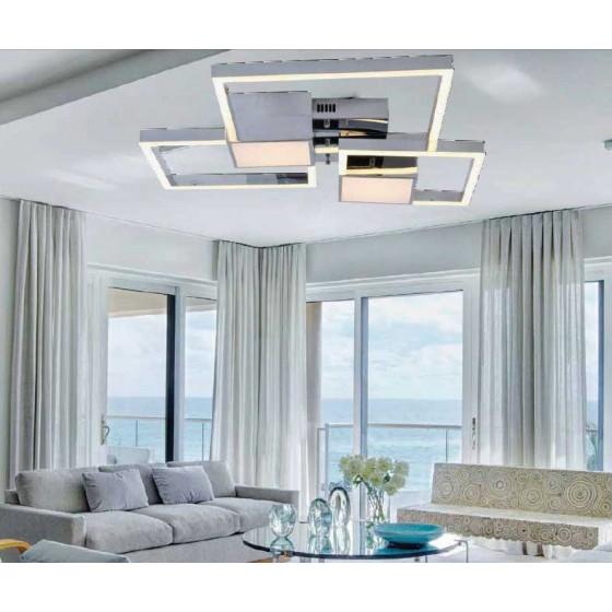 Φωτιστικό οροφής LED 80x60cm τετράγωνα πλαίσια