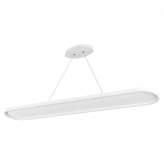 Λευκό φωτιστικό LED οβάλ 76cm