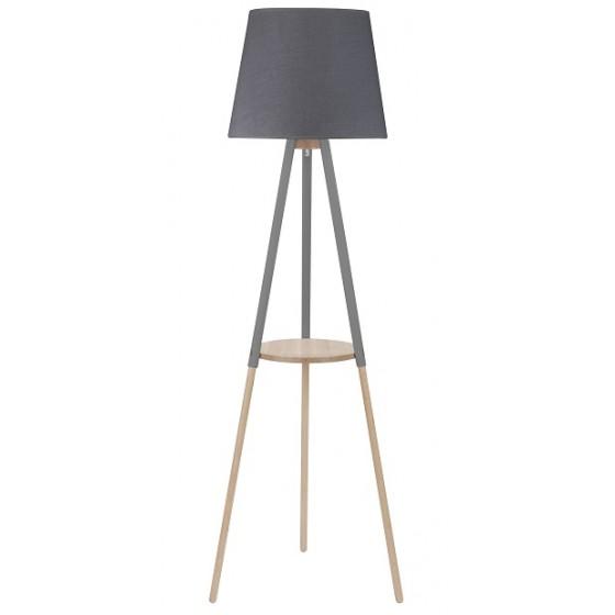 Ξύλινο φωτιστικό δαπέδου με αμπαζούρ Ø40cm