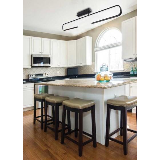 Φωτιστικό οροφής LED μοντέρνο μήκους 100cm μαύρο