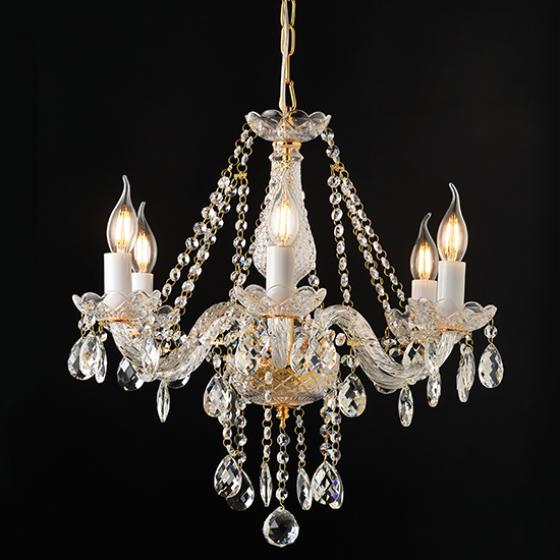 Gladiolo πολυέλαιος με 6 φώτα χρυσαφί ACA
