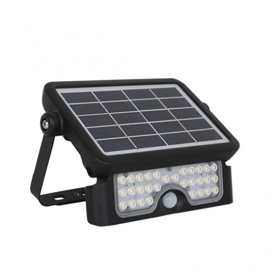 Φορητός προβολέας 8W με ηλιακό πάνελ και αισθητήρα κίνησης