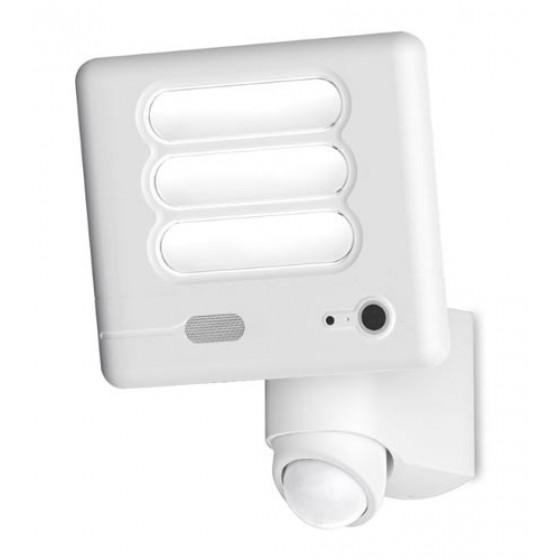 Λευκό περιστρεφόμενο προβολάκι LED 5000K με αισθητήρα και κάμερα