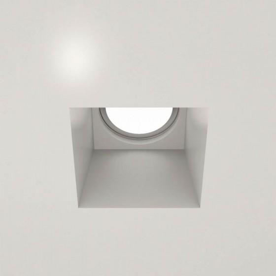 Χωνευτό σποτ οροφής γύψινο 12x12cm