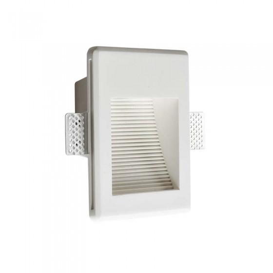 Γύψινο χωνευτό σποτ τοίχου με γραμμές 17x14cm LED