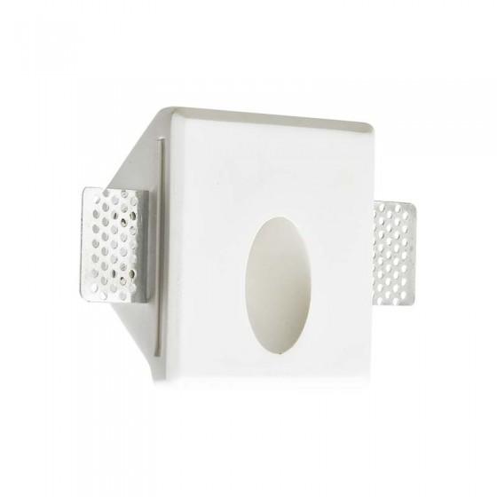 Γύψινο χωνευτό σποτ τετράγωνο 10x10cm LED