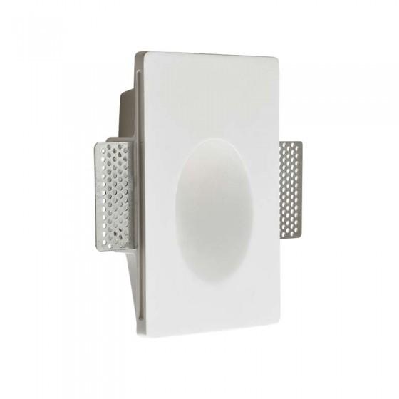 Κάθετο χωνευτό σποτ τοίχου LED 18x12cm γύψινο