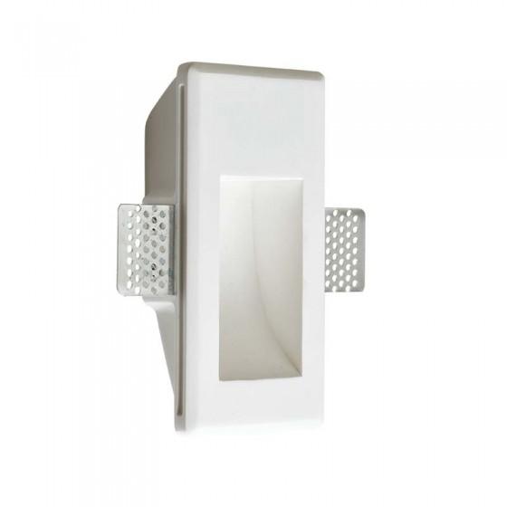 Γύψινο χωνευτό σποτ τοίχου 16.5x8cm LED