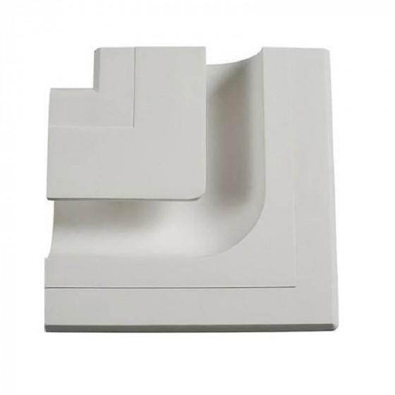 Γύψινη χωνευτή δεξιά γωνία trimless 20x17cm με υποδοχή για λεντοταινία