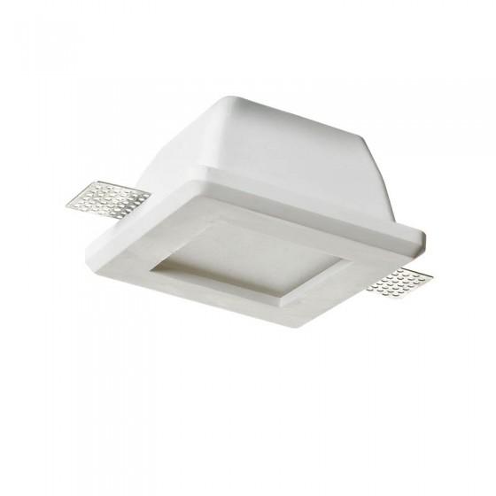 Χωνευτό σποτ οροφής 12x12cm γύψινο με γυαλί
