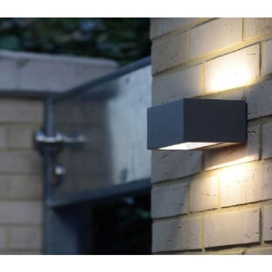 Στεγανή απλίκα αλουμινίου LED ανθρακί