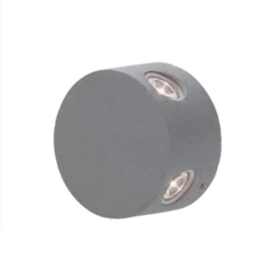 Στρογγυλή απλίκα Ø9cm LED τετραπλής φωτεινής κατεύθυνσης