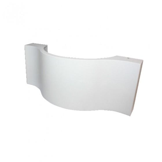 Λευκή στεγανή απλίκα LED