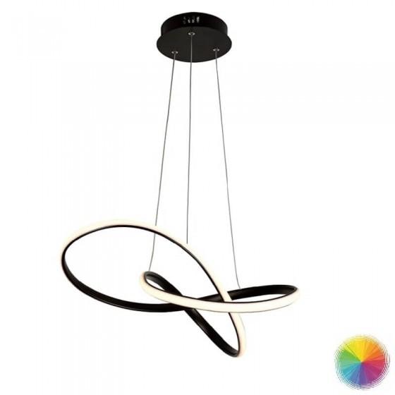 Κρεμαστό φωτιστικό LED από αλουμίνιο και ακρυλικό 48x44cm