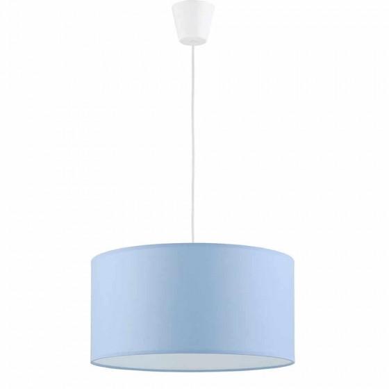 Κρεμαστό παιδικό φωτιστικό Ø40cm υφασμάτινο γαλάζιο