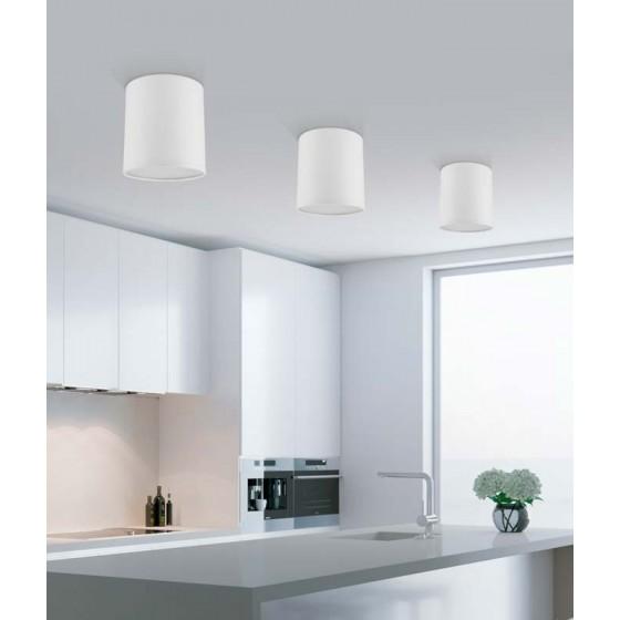 Υφασμάτινος κύλινδρος οροφής Ø12cmE27 LED