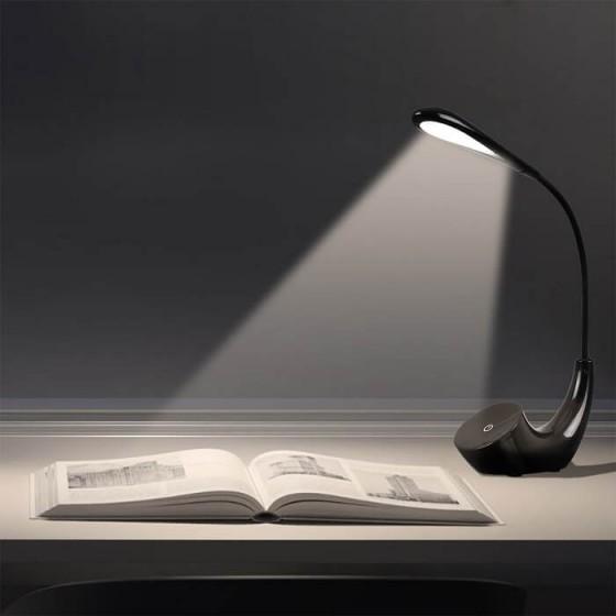 Φωτιστικό γραφείου αφής LED 4500K επαναφορτιζόμενο μαύρο
