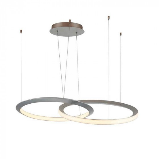 Κρεμαστό φωτιστικό LED με διπλό δαχτυλίδι ∅60x120cm
