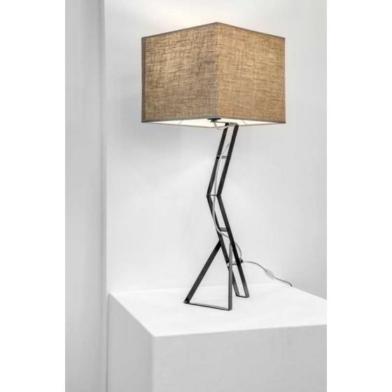 Επιτραπέζιο φωτιστικό 70cm με τετράγωνο υφασμάτινο αμπαζούρ