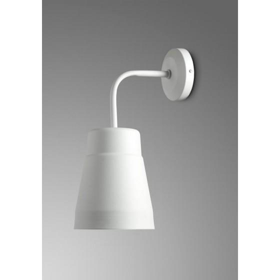 Μεταλλική λευκή απλίκα Ø12cm