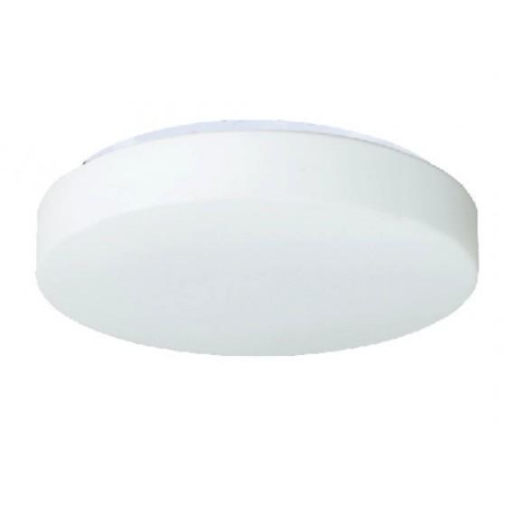 Στρογγυλή πλαφονιέρα οροφής με λευκό ματ γυαλί δίφωτη Ε27