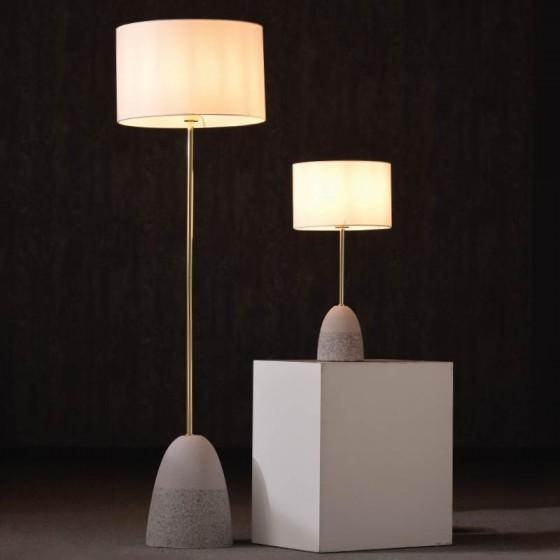 Επιτραπέζιο φωτιστικό 65cm με βάση από πηλό και χαλίκι