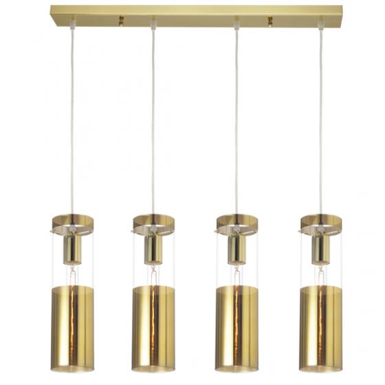 Style τετράφωτη ράγα χρυσοχάλκινη ACA