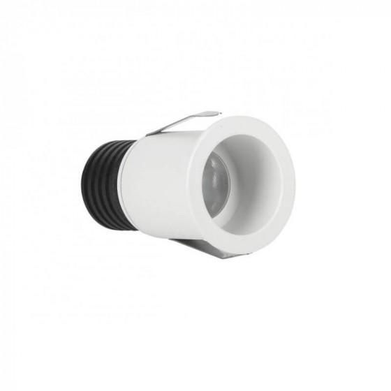 Αμμώδες λευκό χωνευτό σποτ Ø4.2cm με τρύπα κοπής Ø3.5m LED 3W 3000K