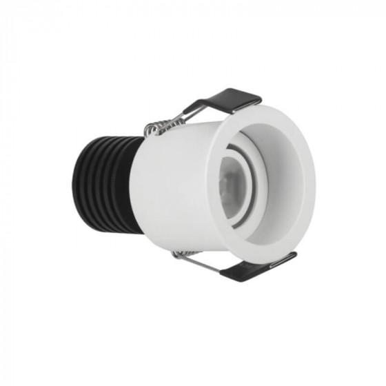 Κινητό χωνευτό σποτ Ø5.5cm με τρύπα κοπής Ø5m LED 3W 3000K