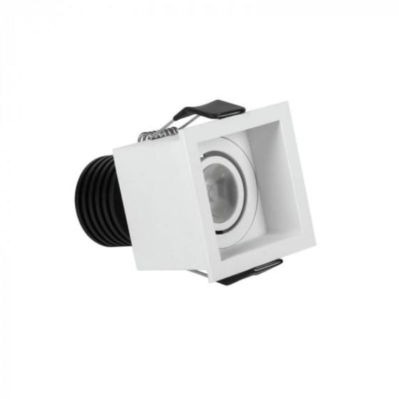 Κινητό χωνευτό σποτ πλευράς 5.5cm με τρύπα κοπής Ø5m LED 3W 3000K
