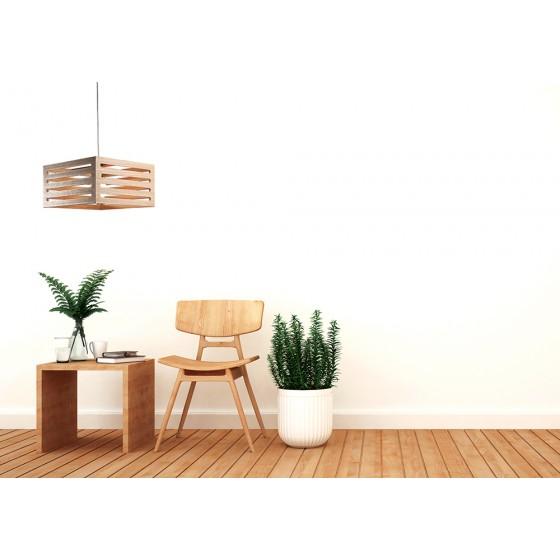 Μονόφωτο κρεμαστό φωτιστικό ξύλινο με ανοίγματα