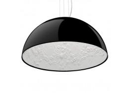 Μοντέρνο Κρεμαστό Φωτιστικό Μονόφωτο Μαύρο Γύψινο Καμπάνα Ø40cm