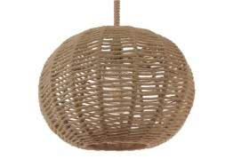 Κρεμαστό Φωτιστικό Μπάλα από Μπεζ Σχοινί Ø42cm