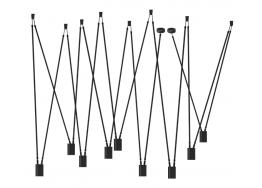 Μεταλλικό κρεμαστό με 9 φώτα