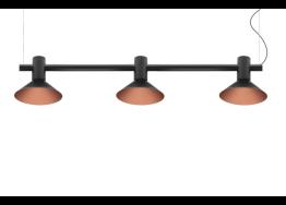 Τρίφωτη ράγα με κεφαλές Ø16cm