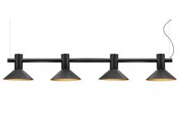 Τετράφωτη ράγα με κεφαλές Ø16cm